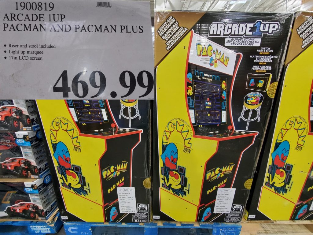 pac-man and pac-man plus stand up arcade