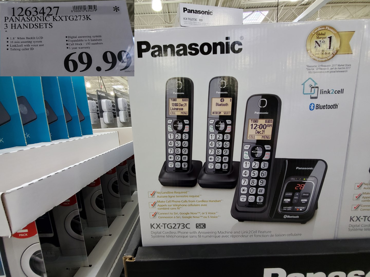 panasonic 3 phone bluetooth set