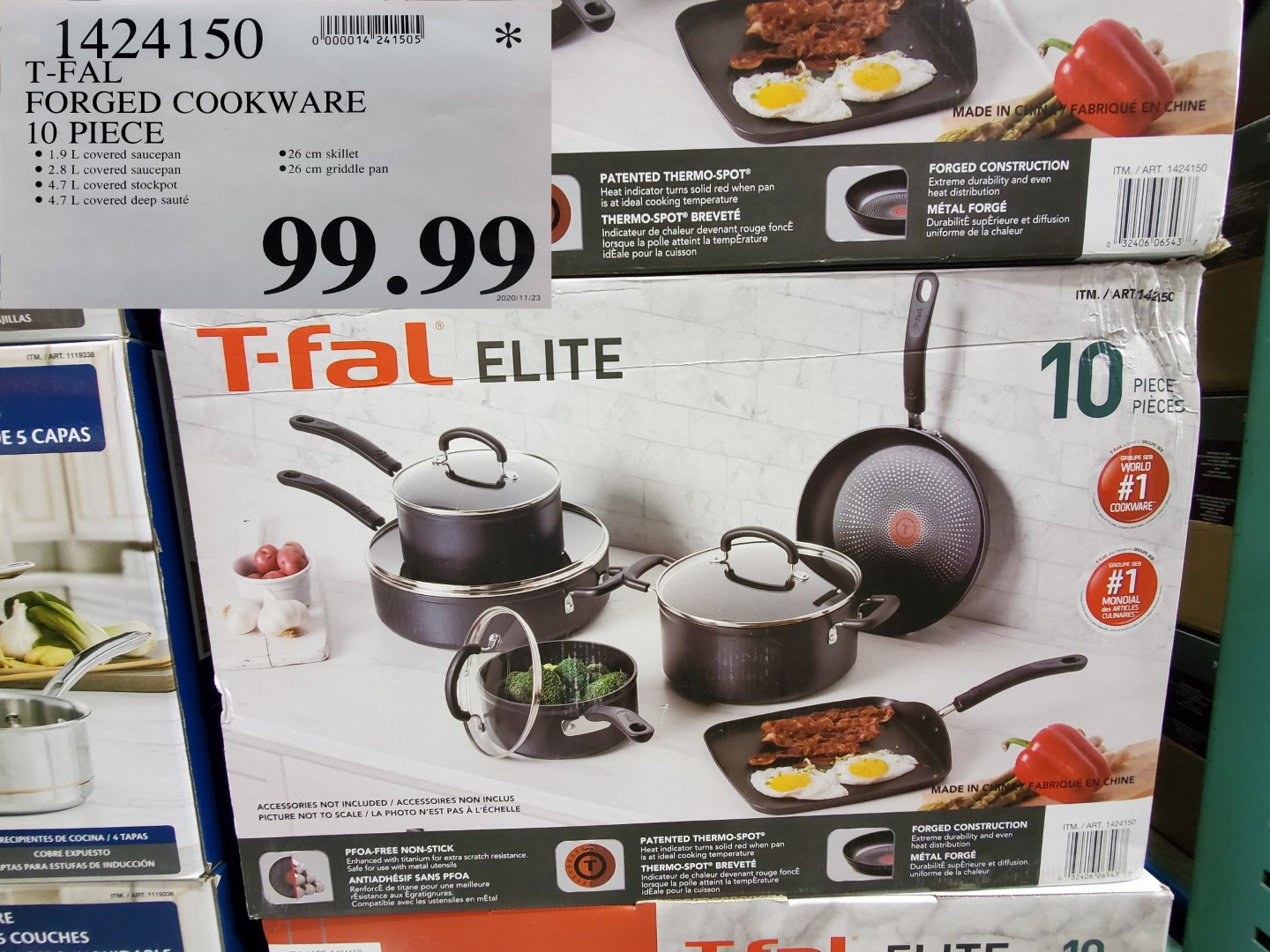 t-fal elite pan set