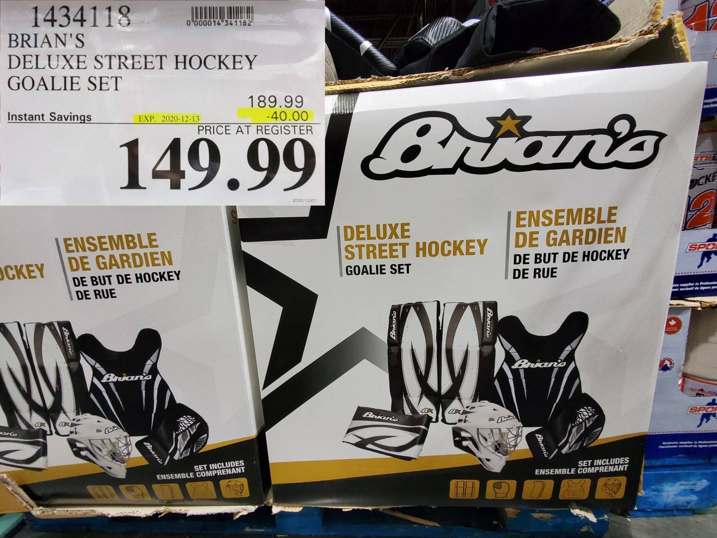 brian's street hockey goalie set