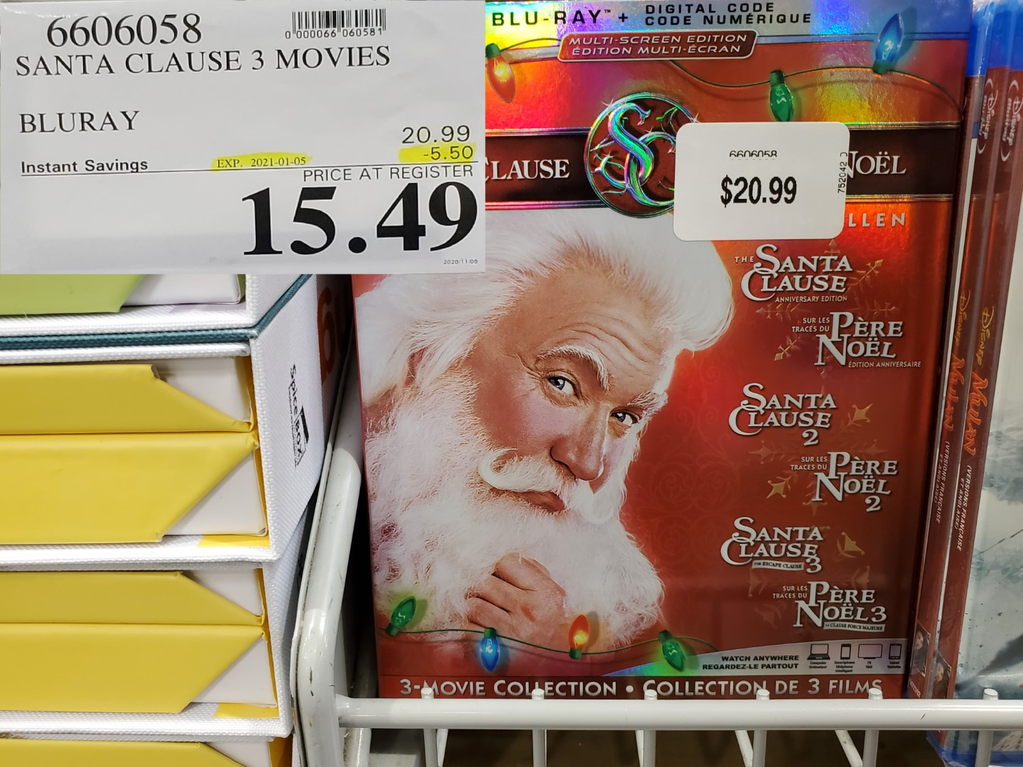 santa clause 3 movie blu ray