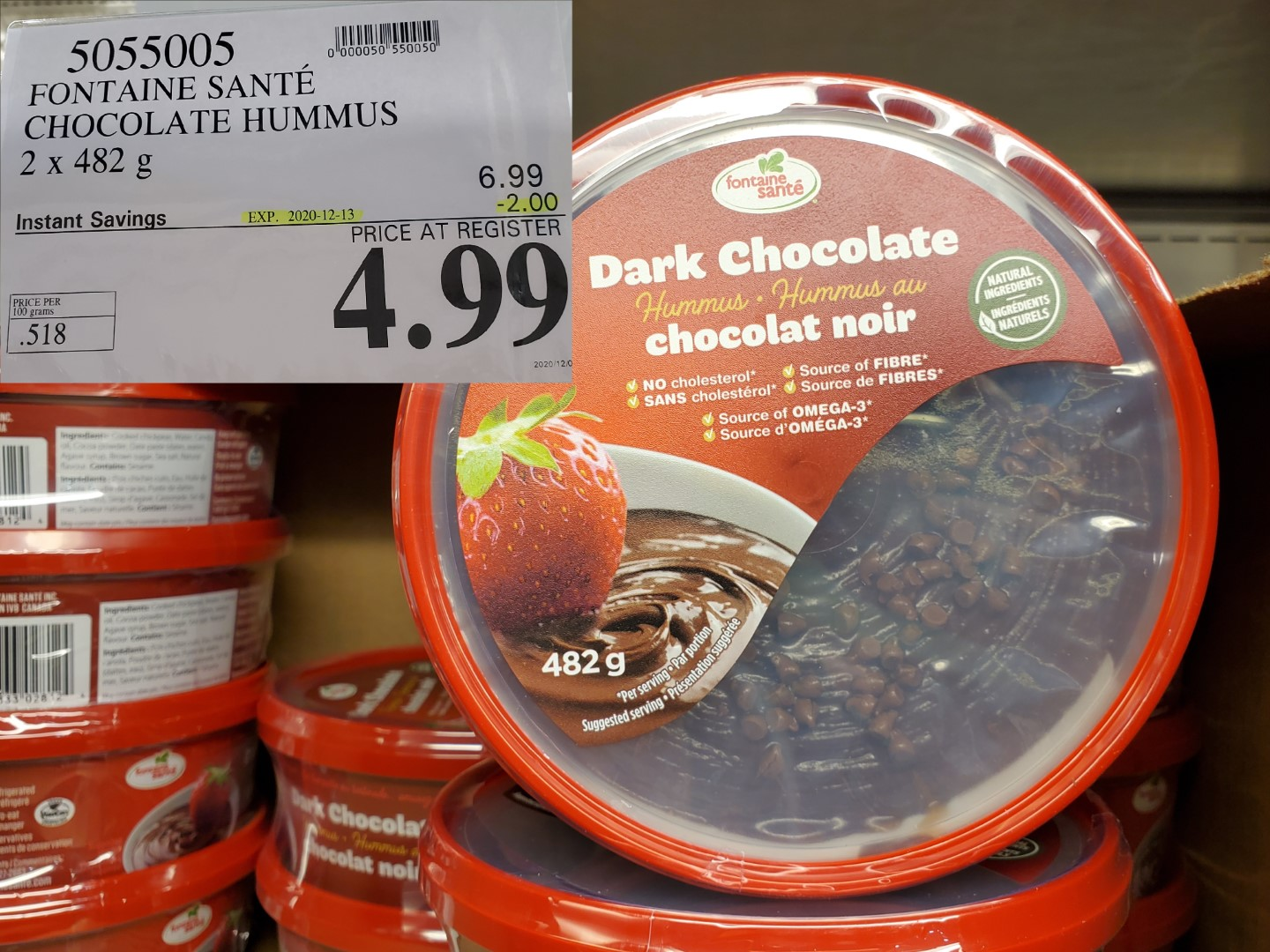 dark chocolate hummus
