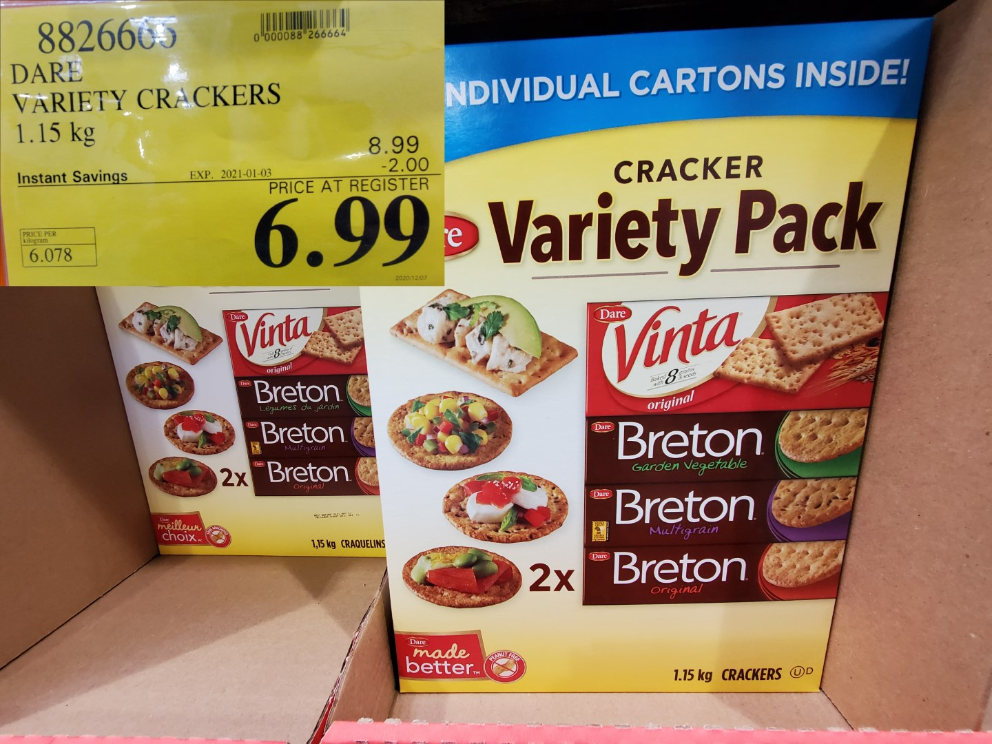 dare cracker variety pack