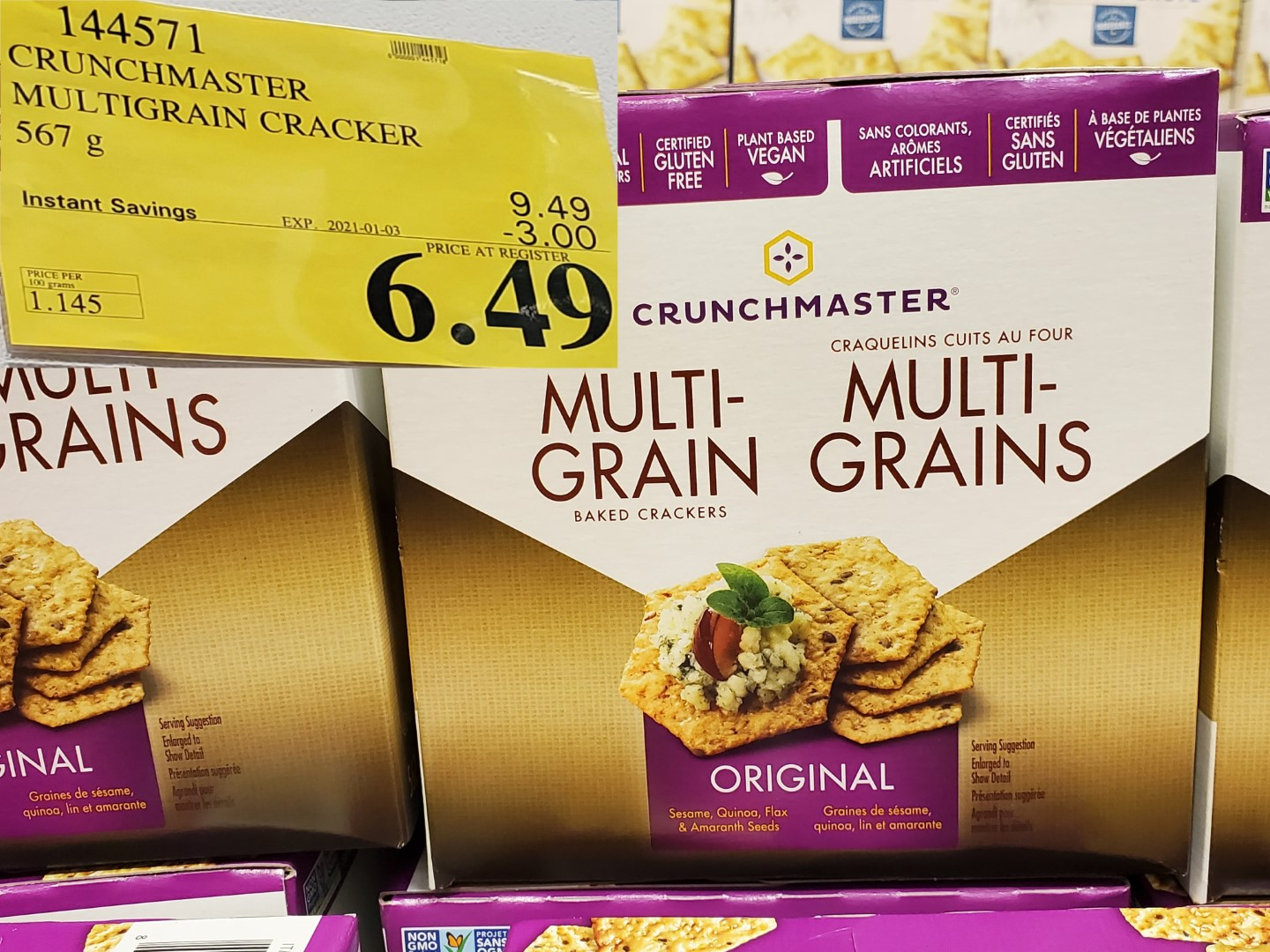crunchmaster multigrain crackers