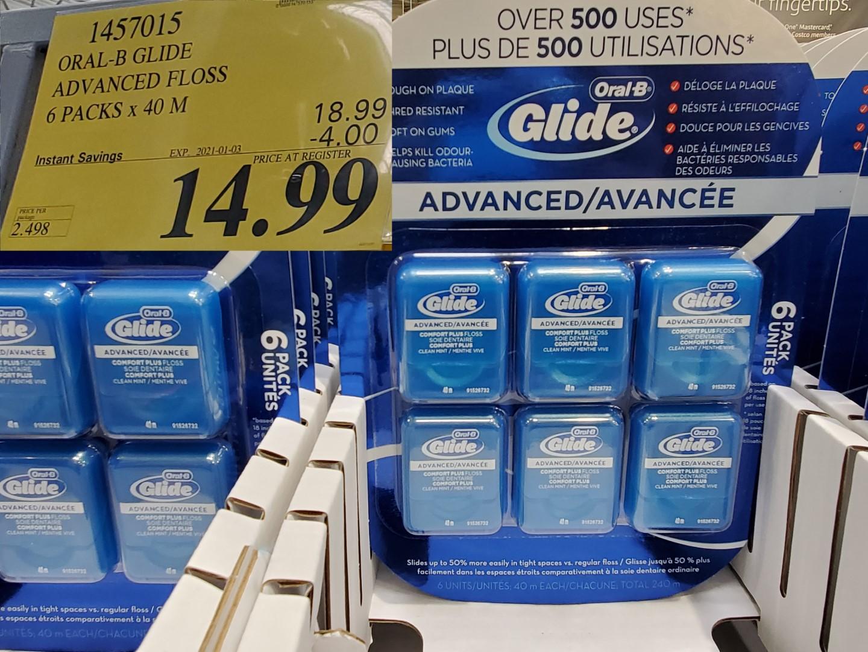 oral B advanced glide floss