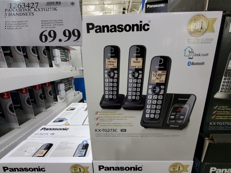 panasonic bluetooth phone set of 3