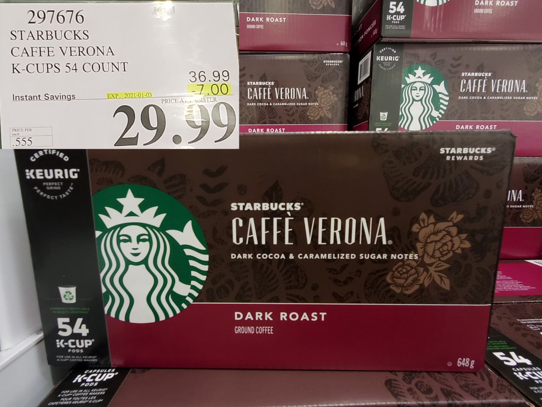 starbucks caffee verona k-cups