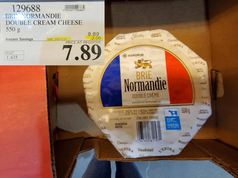 normandie double cream brie