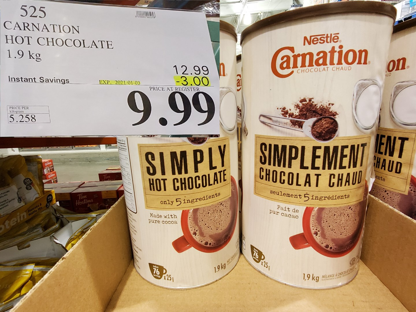 carnation simply hot chocolate