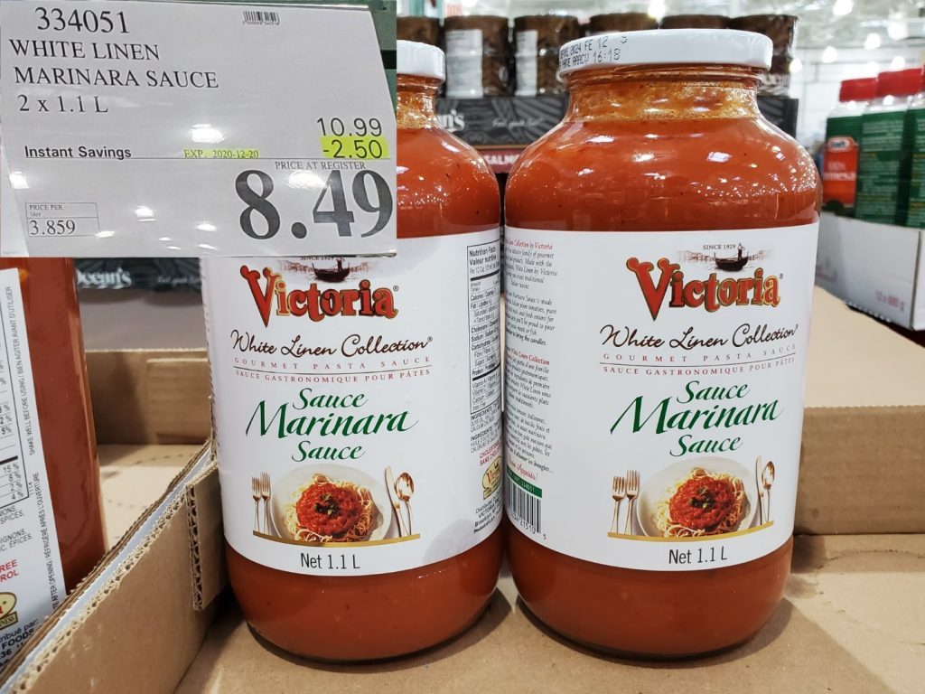 victoria white linen marinara sauce