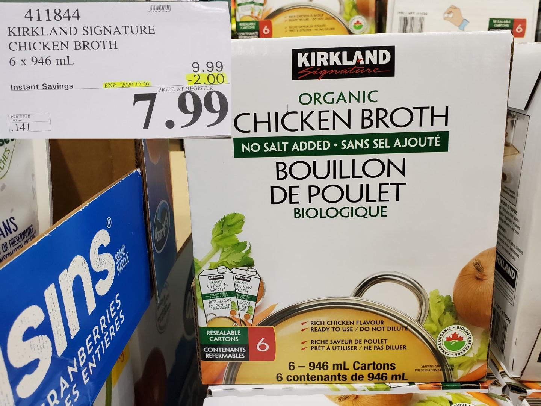 kirkland signature chicken broth