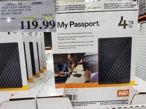 WD my passport 4TB hard drive