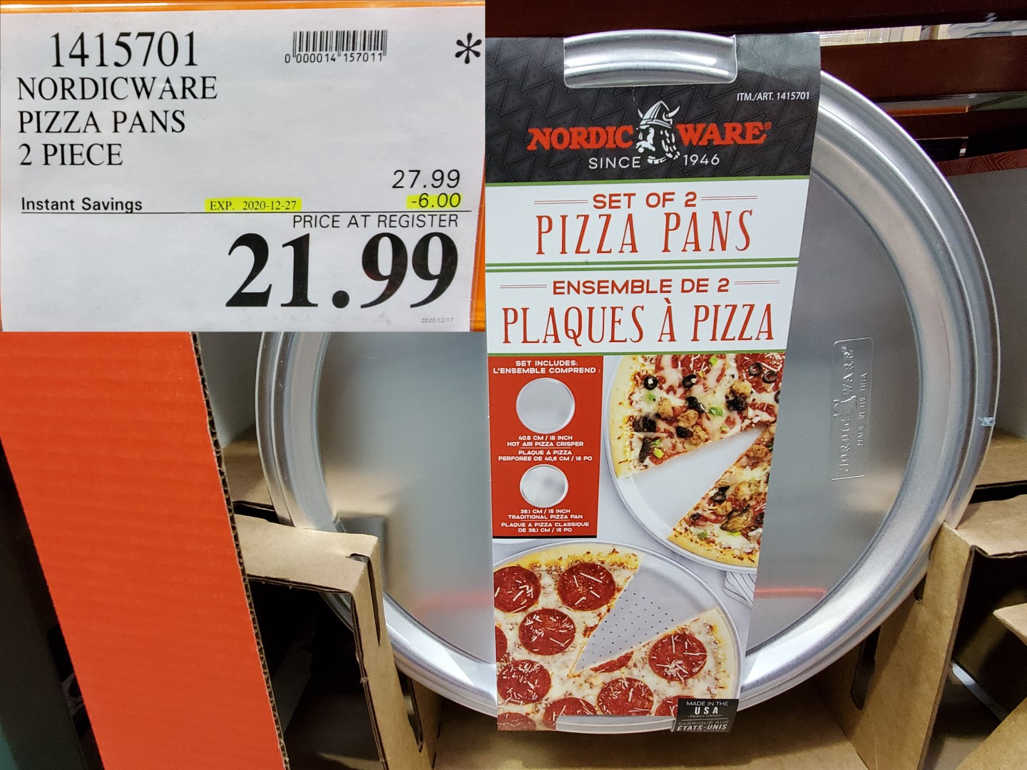 nordic ware pizza pans