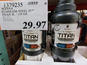 titan stainless steel jug