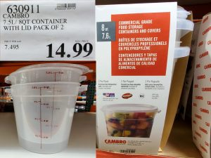 cambro container with lid