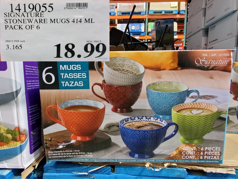 signature stoneware mugs