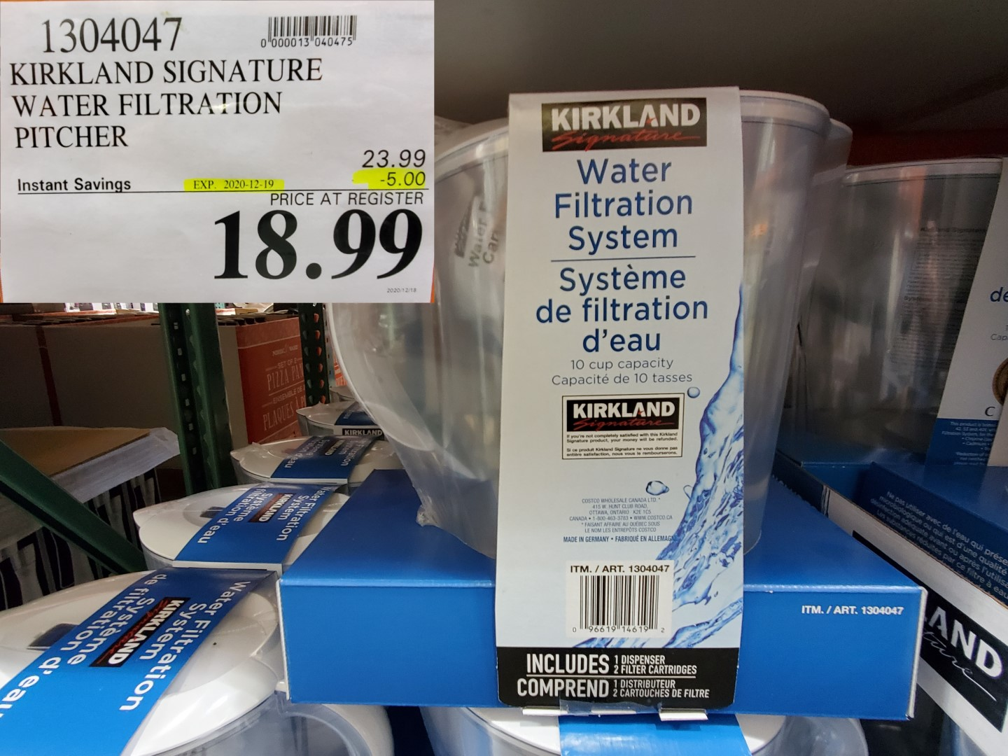 kirkland signature water filtration system