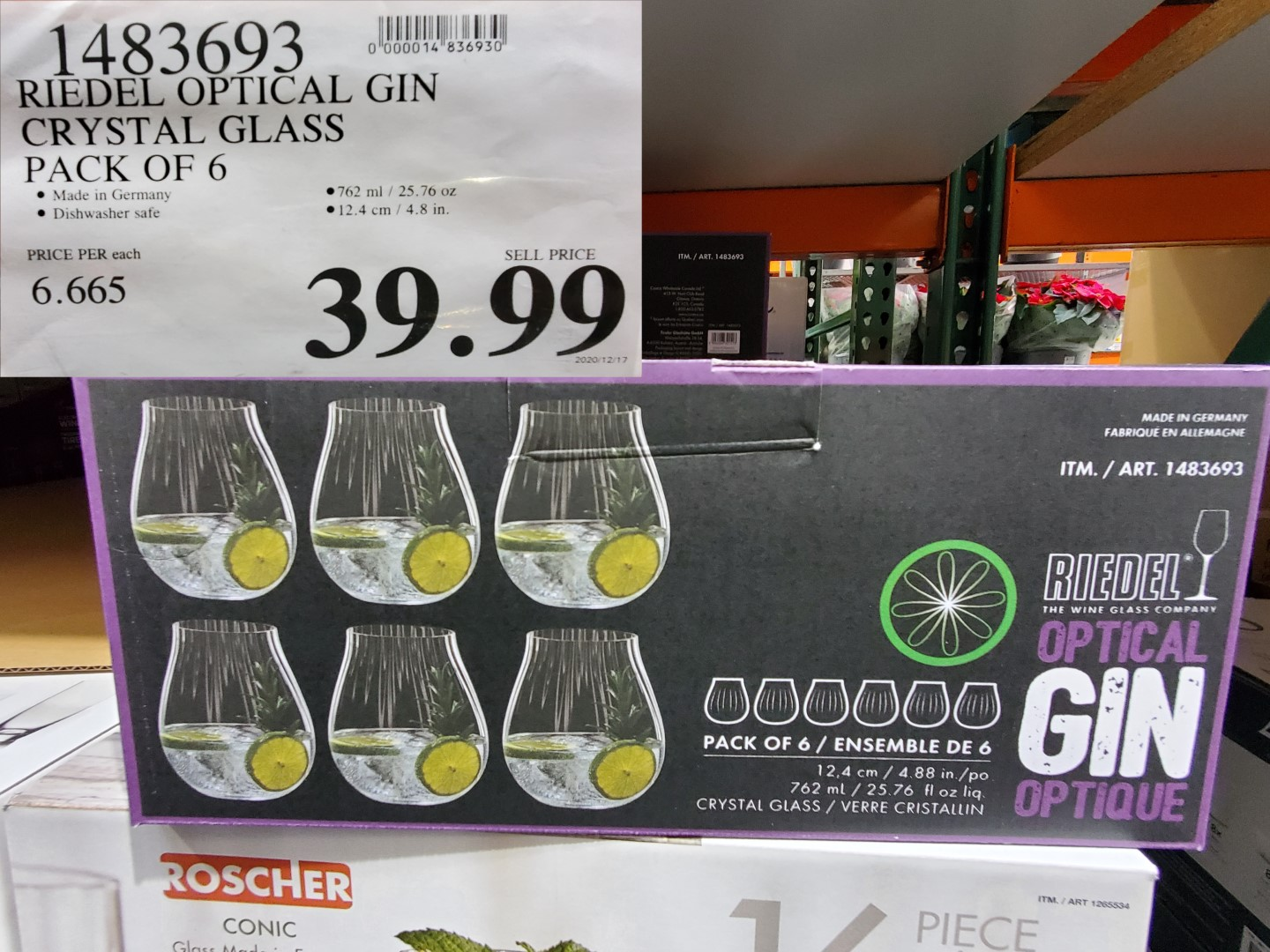 riedel optical gin crystal glass