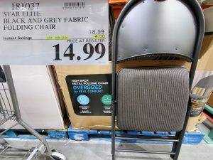 star elite back and grey folding chair