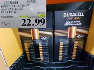 duracell optimum AA batteries