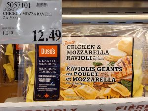 duso's chicken mozz ravioli