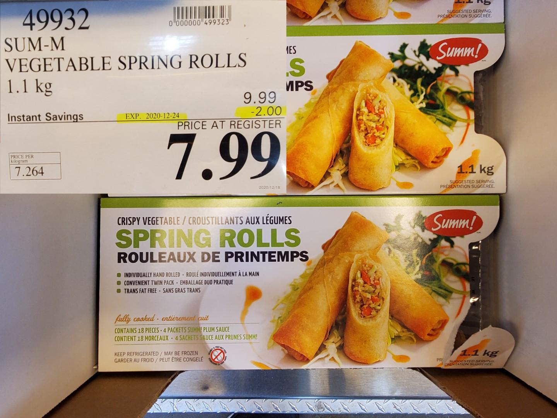 sum-m vegetable spring rolls