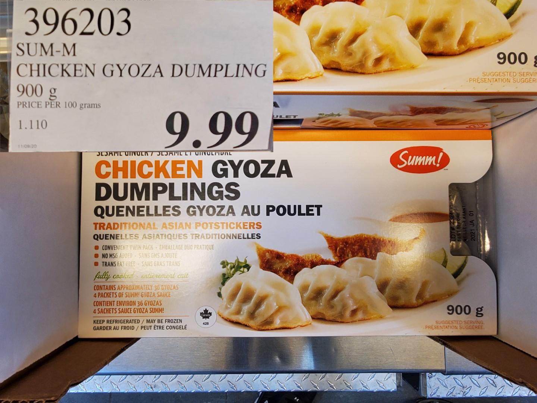 sum-m chicken gyoza dumpling