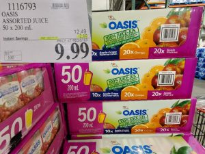 oasis assorted juice
