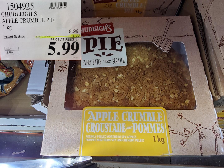 chudleighs apple crisp pie