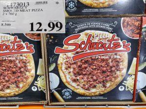 schwatzs smoked meat pizza