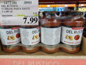 del rustico 5 cheese pasta sauce