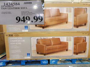 synergy tan leather sofa