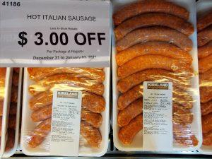 kirkland hot italian sausage