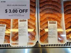 kirkland mild italian sausage