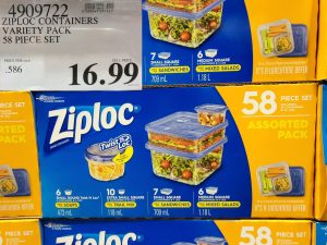 ziploc container variety pack of 58
