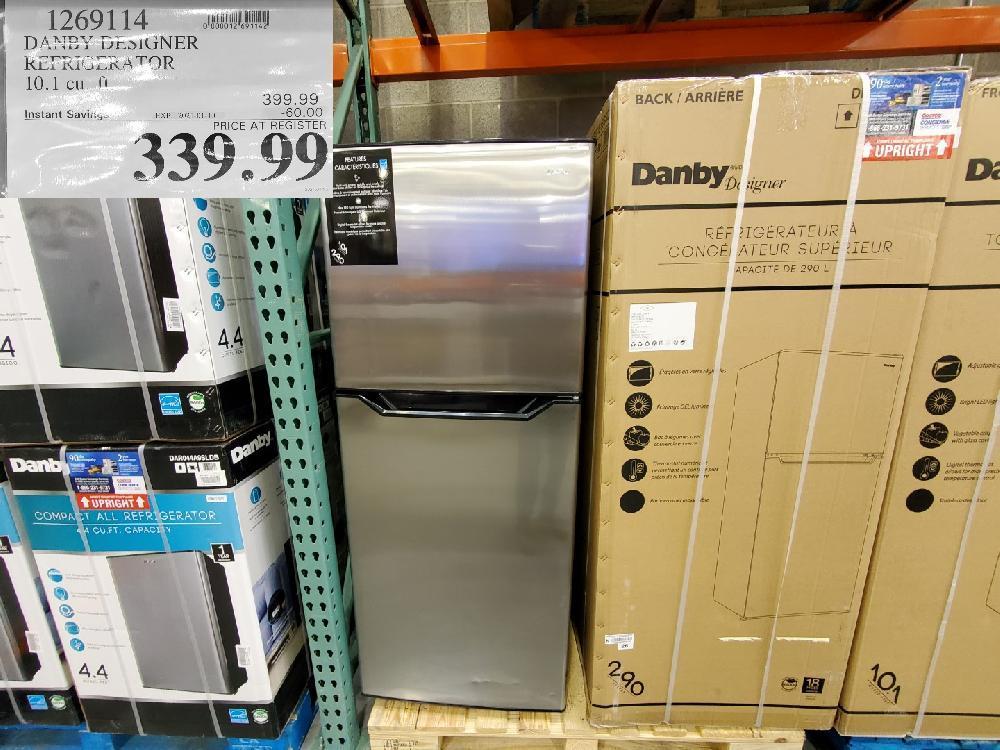 costco sales 1269114 DANBY DESIGNER REFRIGERATOR EXPIRY DATE: 2021-01-10 $335.99