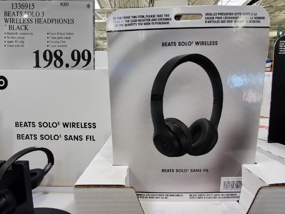 "1336915 BEATS SOLO 3 WIRELESS HEADPHONES "" BLACK $198.99"