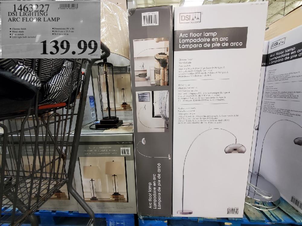 1463227 DSI LIGHTING ARC FLOOR LAMP $139.99