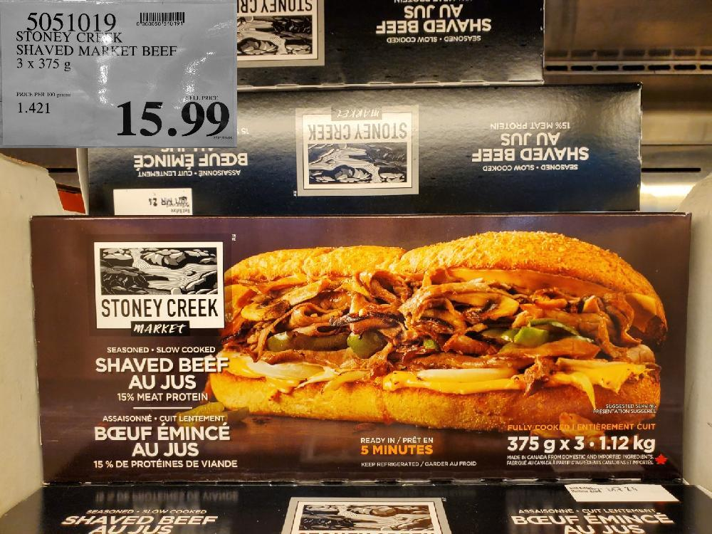 5051019 STONEY CREEK SHAVED MARKET BEEF $15.99