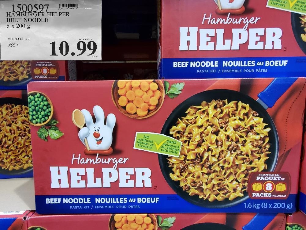1500597 HAMBURGER HELPER BEEF NOODLE 8X200G $10.99