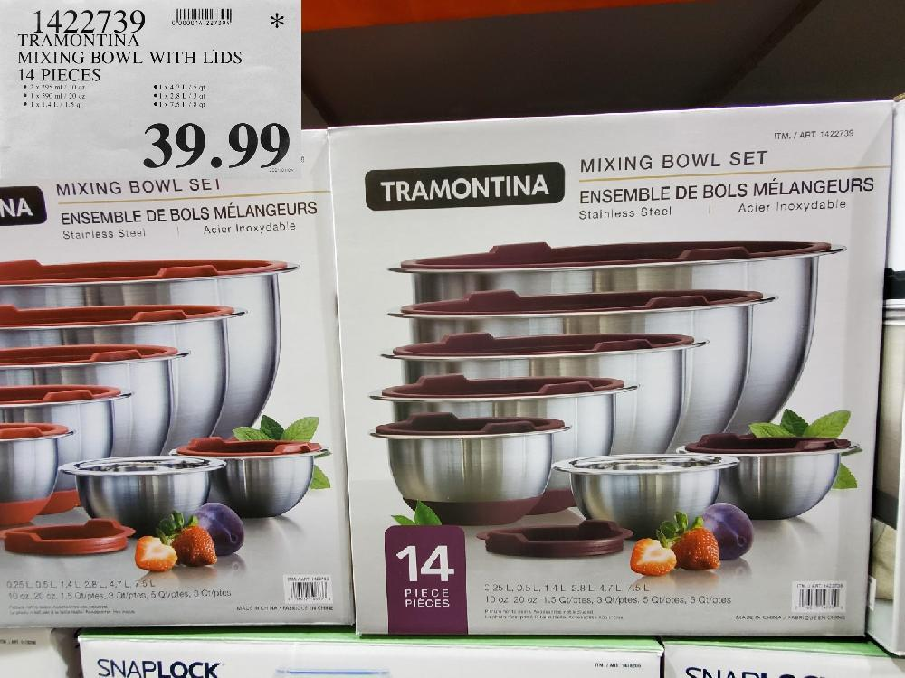 1422739 TRAMONTINA MIXING BOWL WITH LIDS 14 PIECES $39.99