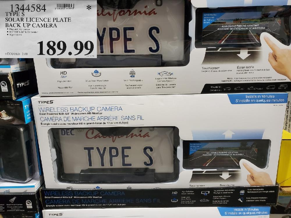 1344584 SOLAR LICENCE PLATE BACK UP CAMERA $189.99