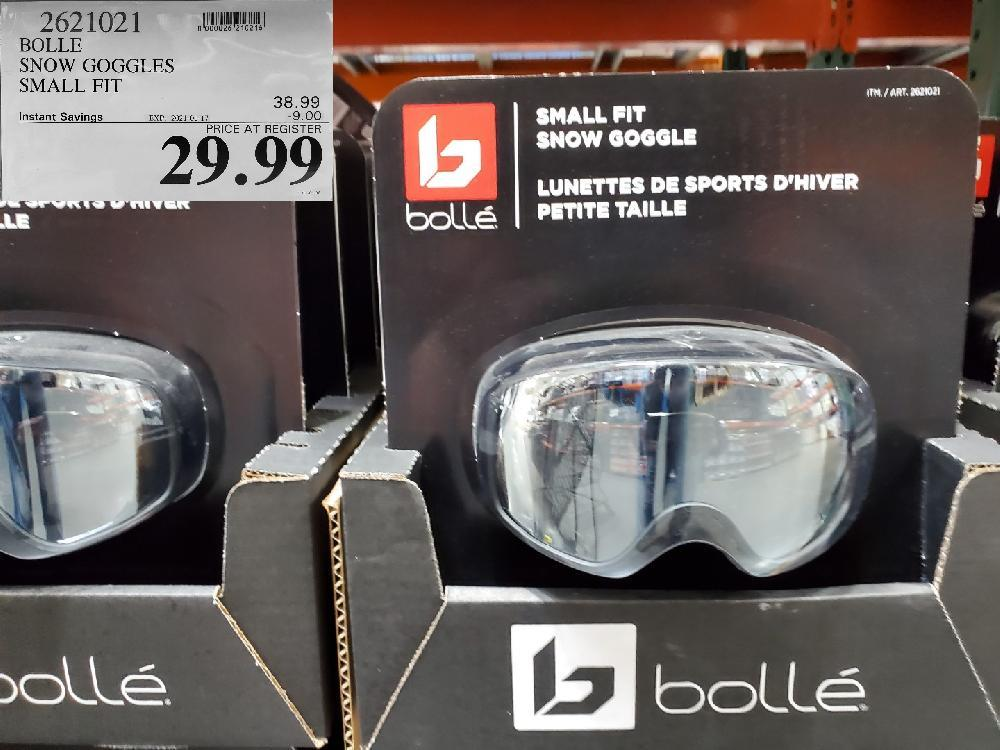 2621021 BOLLE SNOW GOGGLES SMALL FIT EXPIRY DATE: 2021-01-17 $29.99