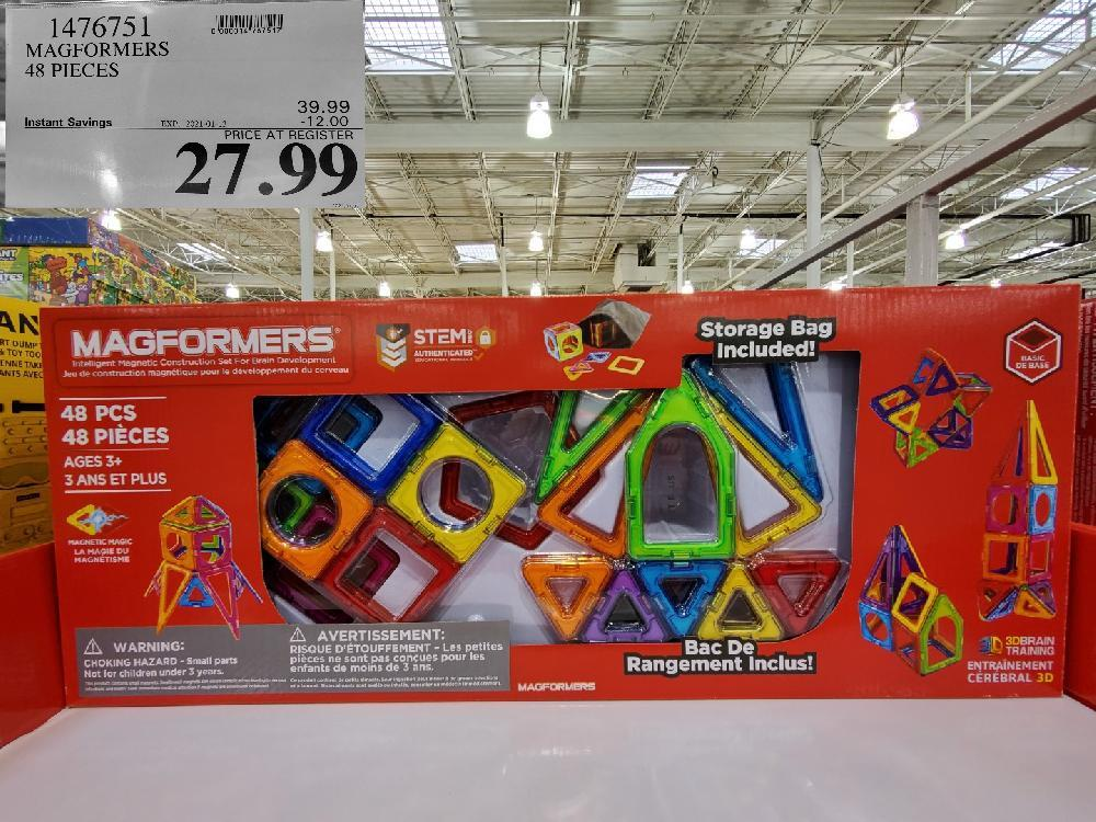 1476751 MAGFORMERS 48 PIECES EXPIRY DATE: 2021-01-13 $27.99