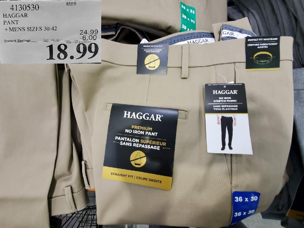 4130530 HAGGAR PANT MENS SIZES 30-42 EXPIRY DATE: 2021-01-17 $18.99