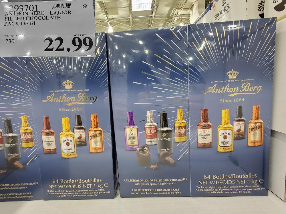 593701 ANTHON BERG LIQUOR FILLED CHOCOLATE PACK OF 64 $22.99
