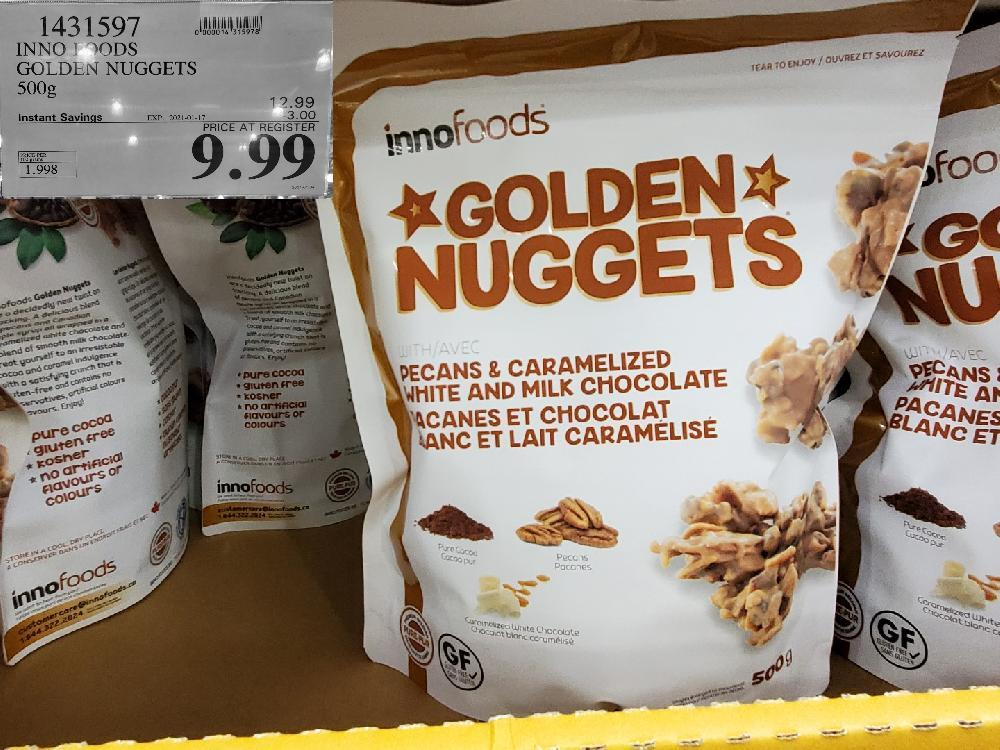 1431597 INNO FOODS GOLDEN NUGGETS 500G EXPIRY DATE: 2021-01-17 $9.99