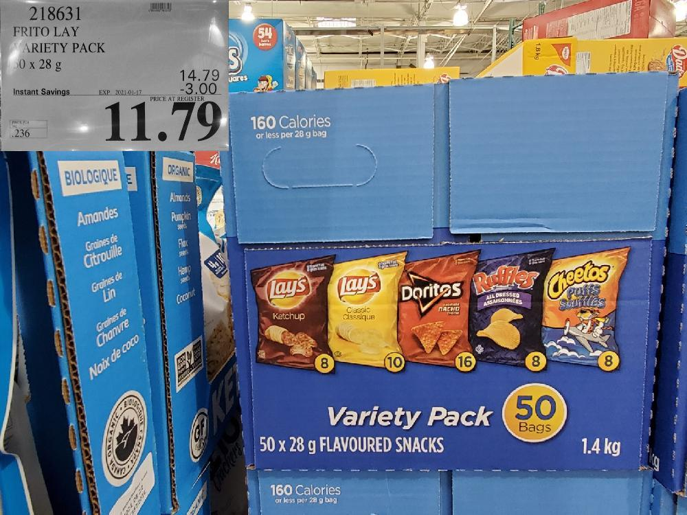 218631 FRITO LAY VARIETY PACK EXPIRY DATE:_:2021-01-17 $11.79