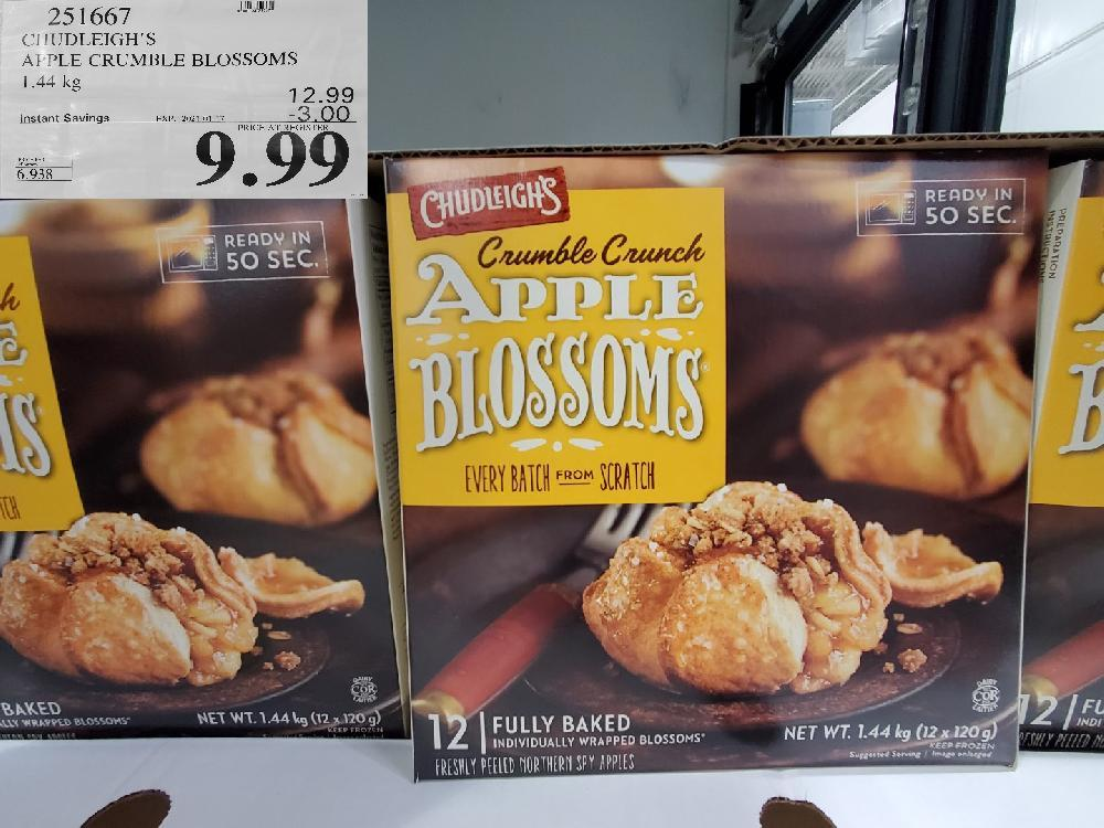 251667 CHUDLEIGH'S APPLE CRUMBLE BLOSSOMS 1.44 kg EXPIRY DATE: 2021-01-17 $9.99