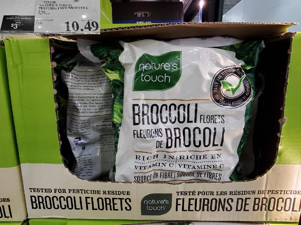 725236 NATURES TOUCH PESTICIDE FREE BROCCOLI 2KG $10.49